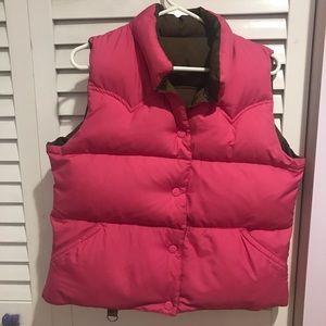 EUC American Eagle Reversible Down Puffer Vest